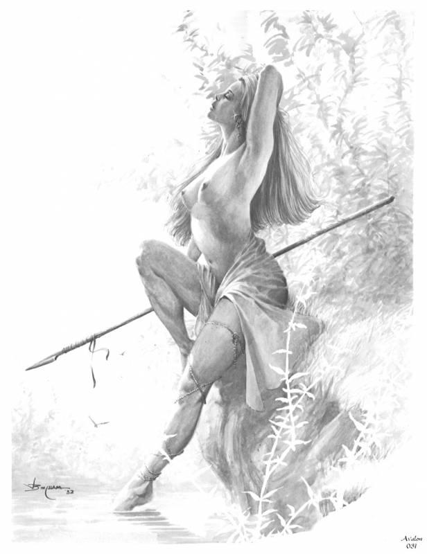 Рисунки карандашом фэнтези девушки 1 фотография