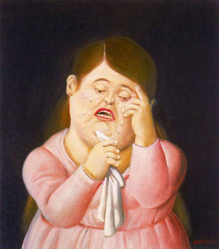 Картина плачет женщина
