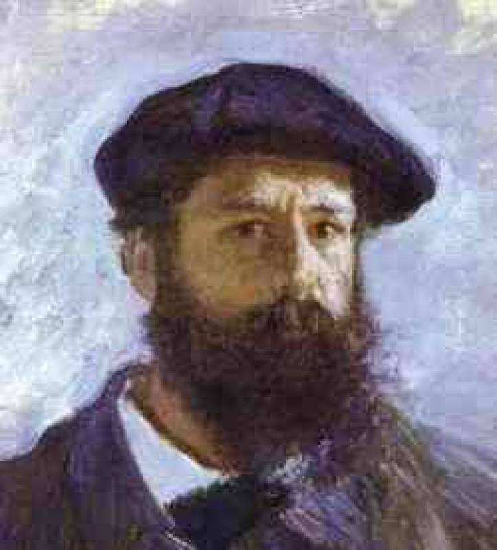 Claude Monet - Self-Portrait. Detail. Claude Oscar Monet. Download painting.