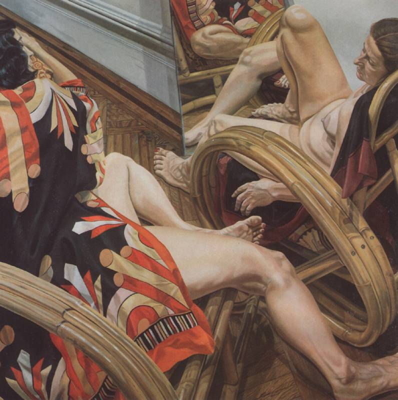 philip pearlstein two models with blow up chair salvador dali essay